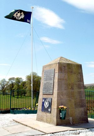 Cameronian flag & Cairn 2005
