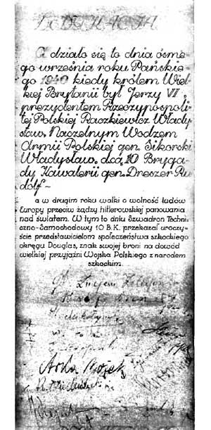 Polish Monument manuscript