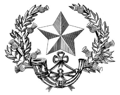 the badge of the cameronian scottish riffles